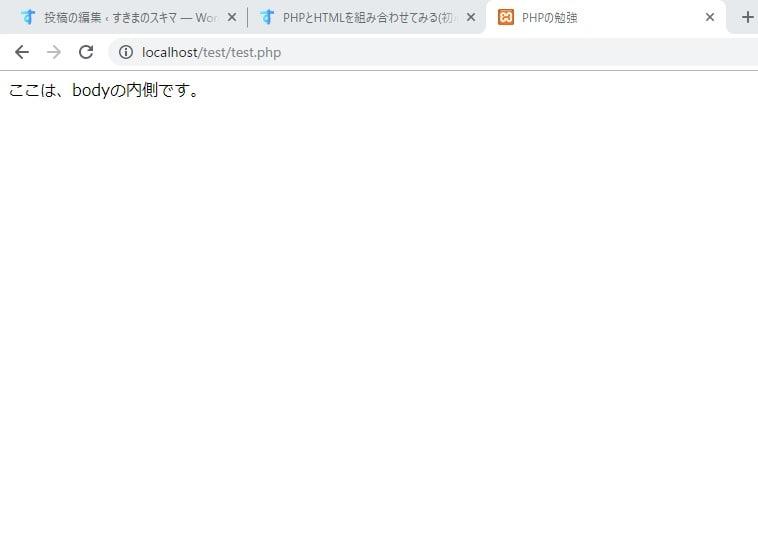 html_bodyに文字あり