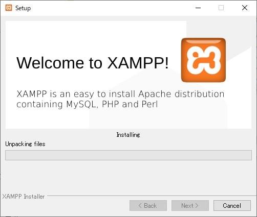 XAMPPセットアップ画面6