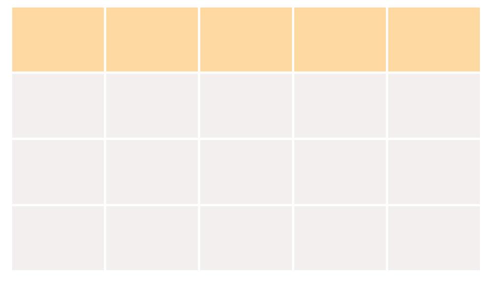 表のデザイン